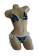 Seattle Seahawks Bikini - By Sexy Crushes - Custom Made Top, Scrunch Bottom!