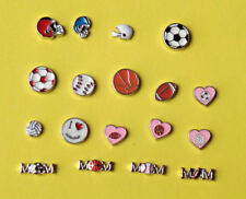 Floating Charms-Sports-Soccer Baseball Football  Volleyball MOM -Free Shipping
