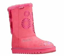 New Girl's Skechers 10253 Twinkle Toes Keepsakes Baby Bow Light Up Boots