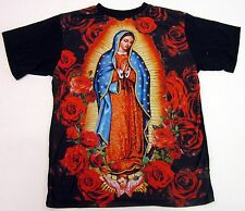 KONFLIC Blessed Virgin Mary Rose Sublimation T-shirt Mens Adult Tee S-2XL New
