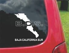 2 (PCS) Baja California Sur Mex. Outline Map Stickers  20 Colors To Choose From