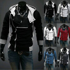New Men's Fashion Long Sleeve Slim Fit Casual Hooded Hoodies Coat Jacket Outwear