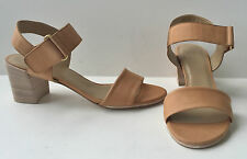 STUART WEITZMAN BROADBAND PECAN LIGHT BROWN COMFY CALF SANDAL