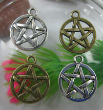 wholesale:30/90pcs Retro style lovely pentagram alloy charms pendant 20x16mm