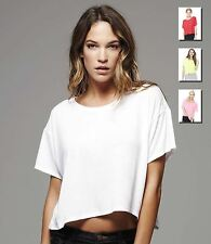 "Bella Womens ""Boxy"" T-Shirt Ladies Cropped Top Summer Fashion S - XL New"