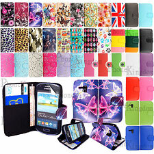 Flip Wallet Leather Case Cover For Samsung Galaxy S3 Mini i8190 / i8200 + Guard