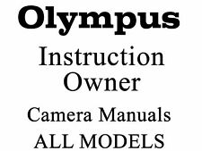 Olympus User Guide Instruction Manual (MANY MODELS) #2