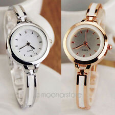 Elegant Women Bracelet Quartz Watches Round Case Wrist Watch Analog Cuff Bangle