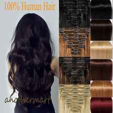 Best Weft Thick Double Wefted Clip In Remy Human Hair Extensions Full Head US B3