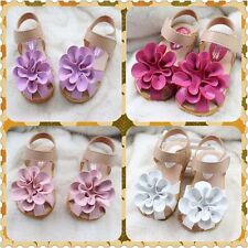 Spring Flowers Baby Girl Princess Baby Toddler Sandals Flat Kids Shoes