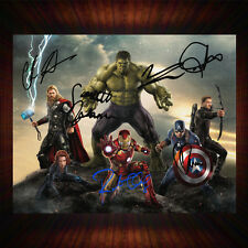 The Avengers Age Of Ultron Cast, PP Signed Autographed Framed Photo/Canvas Print