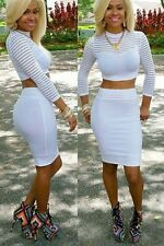 LADIES WOMENS SEXY 2 PIECE BODYCON FORMAL DRESS UK SELLER FAST DELIVERY