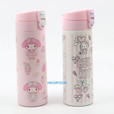 JAPAN HELLO KITTY MY MELODY 500ML STAINLESS STEEL VACUUM FLASK WARM BOTTLE
