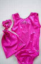 Gymnastic leotard & gym bag pack - HOT PINK