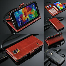 Luxury Leather Flip Wallet Card Photo Slot Stand Case For Samsung Galaxy Models