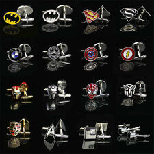 Hot Fashion Men Shirt Square DC Marvel Groom Super Hero Cuff Links For Nice Gift
