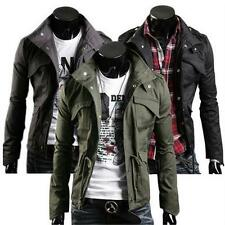 New Mens Men Casual Jacket Military Jacket coat Sexy Slim Fit Outwear M L XL XXL