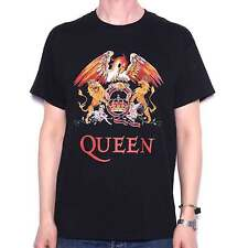 Queen T Shirt Classic Crest 100% Official Freddie Mercury Brian May Roger Taylor