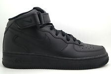 [315123-001] NIKE AIR FORCE 1 MID 07 MENS SHOES BLACK LEATHER