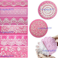 Lace Silicone Mold Mould Sugar Craft Fondant Texture Cake Decorating Baking Tool