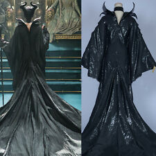 2014 Movie Maleficent Black Witch Princess Dress Cosplay Costume Custom-made