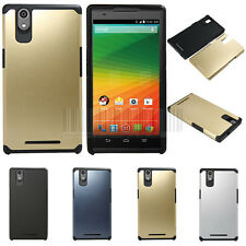 Slim Hybrid Shockproof Dual Armor Case Hard Protective Cover For ZTE Zmax Z970