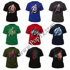 The Avengers Age of Ultron Movie Poster Assemble Logo T-shirt S-2XL Marvel Comic