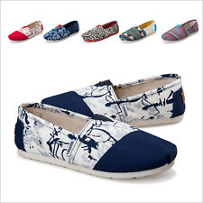 Unique Printing Women's Shoes Fashion Girl Flats Casual Shoes Canvas Lazy Shoes