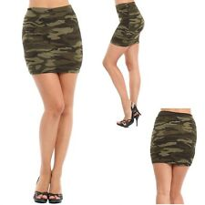 JR'S MINI, ABOVE KNEE CAMO CAMOUFLAGE, PENCIL SKIRT, SIMPLE, MODERN, S/M L/XL