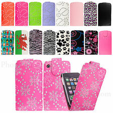 Leather Flip Wallet Case Cover For Apple Iphone 3 3G 3GS With Free Screen Guard