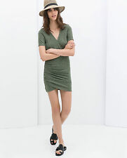 ZARA WOMEN'S MARL GREEN WRAP DRESS  SIZE S / M SOLD OUT ONLINE & STORES