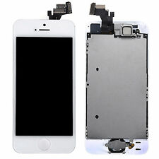 Front Complete Touch Panel LCD Assembly Home Button Camera For iPhone 5 5G