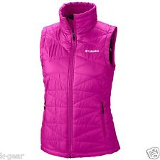 COLUMBIA Mighty Lite III Womens 1X Plus Size Vest Groovy Pink Omni-Heat NEW