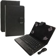 Universal 7 Inch Tablet Wireless Bluetooth Keyboard Case Cover Pouch Black