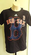 "NWT MLB Adidas Boston Red Sox Big ""B"" Navy Blue Youth Team Tee - Sizes 8-18"