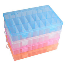 2015 HOT Adjustable 24 Compartment Plastic Storage Box Jewelry Earring Case