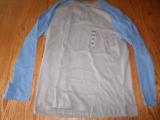 NEW IZOD MENS  GRAYBAR LIGHT BLUE LONG SLEEVE CREW NECK T-SHIRT SHIRT XL X-LARGE