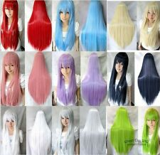 """Heat Resistant Fashion Party Cosplay Accessories Ghost Straight Full Wig 31"""""""