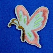 Butterfly Insect Flower Iron on Sew Patch Applique Badge Embroidered Nature Cute
