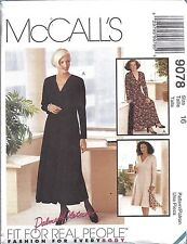 UNCUT Vintage McCalls Sewing Pattern Misses Palmer Pletsch Semi Fit Dress 9078