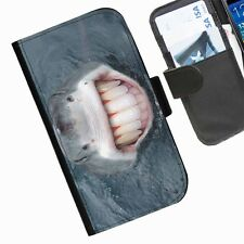 Funny Fish Leather wallet personalised phone case for iPhone 3 4 4S 5 5S 5C 6 6+