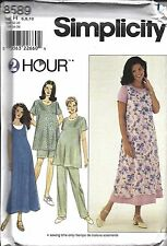 UNCUT Simplicity Sewing Pattern Maternity Dress Top Jumper Pants Shorts 8589 2HR