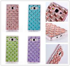 New Luxury Bling Crystal Rhinestone Clear TPU Back Case Cover For iPhone Samsung