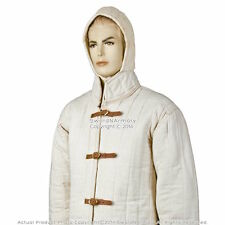 Ecru Gambeson Type IV Medieval Padded Armour Coat SCA WMA Jacket