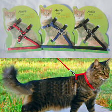 Cat Lead Leash Harness Kitten Belt Strap Adjustable Cat Dog Collar Multi Color