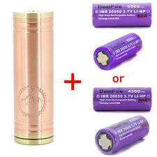 26650 Vanilla Copper Mechanical Mod Vaporizer Clone + Choice of 60A 90A Battery