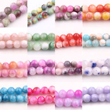 Hot Glass Persia Jade Round 18 Color Or Mixed 6/8/10mm Loose Spacer Beads Charms