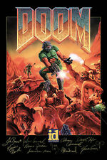 Doom Classic Game Signed Poster |5 Sizes| PC Box BFG 64 Atari Xbox PS4 3DO Sega