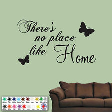There's No Place Like Home - Wall Sticker Art Decal Quote living room ideas