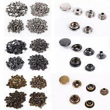 10-15mm 100 Set Press Studs Kit Snap Fasteners Poppers Buttons